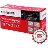 Картридж лазерный SONNEN SB-TN2275 для BROTHER HL-2240R/2240DR/2250DNR, ресурс 2600 страниц, 363071