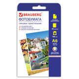 Фотобумага для струйной печати, 10х15 см, 180 г/м<sup>2</sup>, 50 листов, односторонняя глянцевая BRAUBERG, 363124