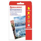 Фотобумага для струйной печати, 10х15 см, 180 г/м<sup>2</sup>, 50 листов, односторонняя матовая, BRAUBERG, 363127