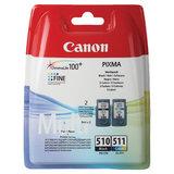 Картридж струйный CANON (PG-510/CL-511) PIXMA MP240/250/260/MX320, черный и цветной, 264 страниц, оригинальный, 2970B010