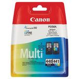 Картридж струйный CANON (PG-440/CL-441) PIXMA MG2140/MG3140, черный и цветной, 180 станиц, оригинальный, 5219B005