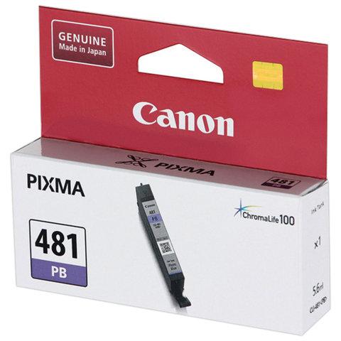 Картридж струйный CANON (CLI-481PB) для PIXMA TS8140/TS8240/TS9140, фото синий, ресурс 1660 страниц, оригинальный, 2102C001