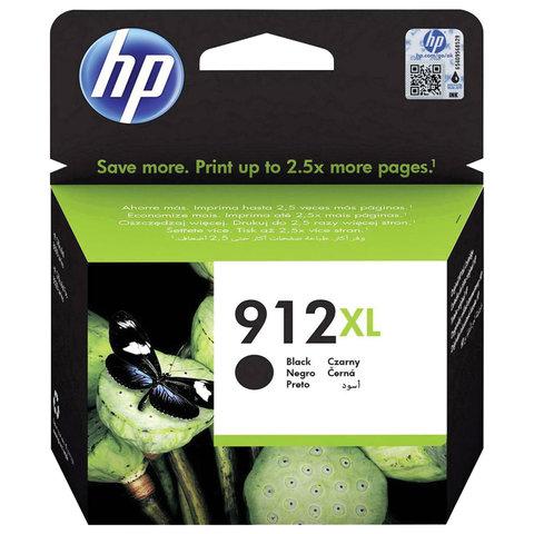 Картридж струйный HP (3YL84AE) для HP OfficeJet Pro 8023, №912XL черный, ресурс 825 страниц, оригинальный