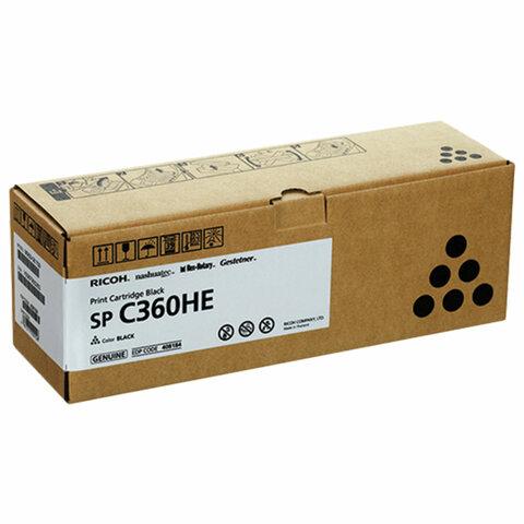Картридж лазерный RICOH (SP C360HE) для Ricoh SP C360SFNw/C361SFNw, черный, оригинальный, ресурс 7000 страниц, 408184