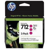 Картридж струйный для плоттера HP (3ED78A) для DesignJet T230 /T250 /T630 /T650, пурпурный, 3 шт., оригинальный