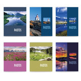 Фотоальбом BRAUBERG на 36 фото 10х15 см, мягкая обложка, пейзаж, ассорти, 390649
