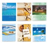 Фотоальбом BRAUBERG на 36 фото 10х15 см, мягкая обложка, вид на океан, ассорти, 390651