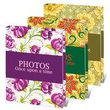Фотоальбом BRAUBERG на 36 фотографий 10х15 см, твердая обложка, яркие узоры, ассорти, 390655
