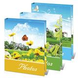 Фотоальбом BRAUBERG на 36 фотографий 10х15 см, твердая обложка, летний пейзаж, ассорти, 390656