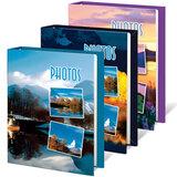 Фотоальбом BRAUBERG на 60 фотографий 10х15 см, твердая обложка, природа, ассорти, 390660