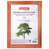 """Рамка 15х20 см, дерево, багет 18 мм, BRAUBERG """"Pinewood"""", красное дерево, стекло, подставка, 391217"""