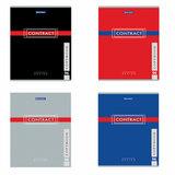 "Тетрадь А5, 96 л., BRAUBERG, клетка, обложка картон, ""CONTRACT"", 400523"