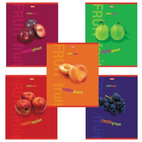 Тетрадь 80л. А4 HATBER, кл., выб. лак, Fresh Fruit (Фрукты), 80Т4влС3 (T20623)
