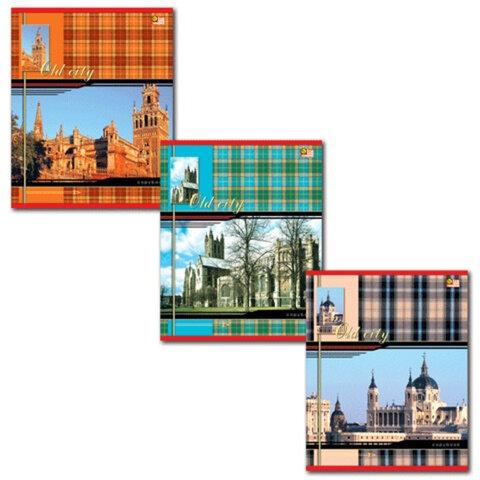 """Тетрадь 48 л., HATBER VK, клетка, обложка мелованный картон, """"Шотландка"""", 48Т5С1, Т32848"""
