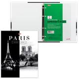 """Тетрадь на кольцах, 120 л., HATBER, ламинированная обложка, """"Париж"""", 120ТК5B1 10506, T103135"""