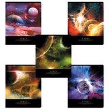 """Тетрадь 96 л., ERICH KRAUSE, клетка, обложка мелованный картон, """"Вселенная"""", 35494"""