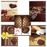 """Тетрадь 96 л., HATBER, клетка, обложка мелованный картон, """"Шоколад"""", 96Т5B1, T182970"""