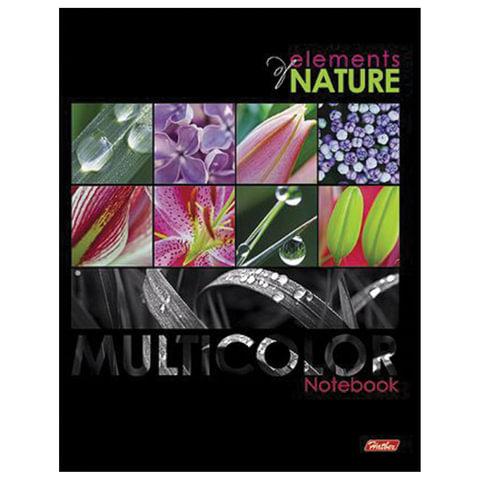 """Тетрадь на кольцах, 240 л., HATBER, ламинированная обложка, """"Multicolor"""" (""""Цветы""""), 240ТК5В1 14439, T199640"""