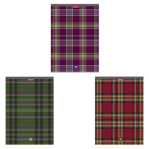 """Тетрадь 48 л., А4, ERICH KRAUSE, клетка, мелованный картон обложка, """"Scottish cage"""", 42676"""