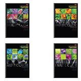 """Тетрадь 96 л., А4, HATBER, гребень, клетка, выборочный лак, """"Multicolor"""", 96Т4вмВ3гр, T213698"""
