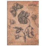 """Скетчбук (блокнот для эскизов), белая бумага, А4, 100 г/м<sup>2</sup>, 80 л., 7БЦ, """"Vintage flower"""", A255247"""