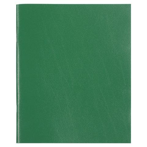 Тетрадь бумвинил, А5, 48 л., скоба, офсет №2 ЭКОНОМ, клетка, с полями, STAFF, ЗЕЛЕНЫЙ, 403412