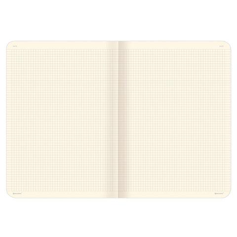 Тетрадь 60 л. в клетку обложка гладкий кожзам, сшивка, А4 (210х297мм), ТЕМНО-СИНИЙ, BRAUBERG VIVA, 403906