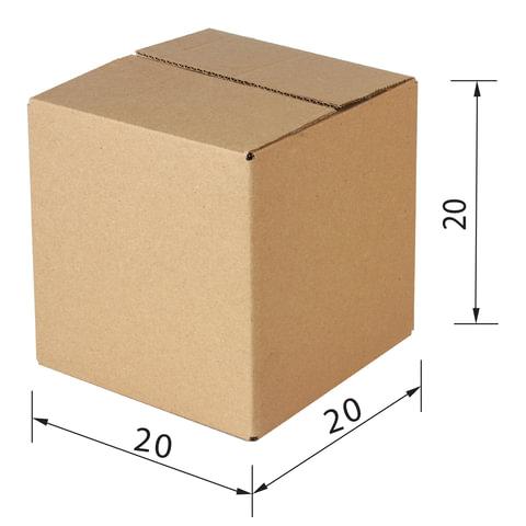 Гофроящик, длина 200 х ширина 200 х высота 200 мм, марка Т24, профиль В, FEFCO 0201 / ГОСТ, исполнение А