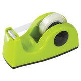 Диспенсер для клейкой ленты BRAUBERG настольный, утяжеленный, средний, салатовый, 11,8х5х5 см, 440143