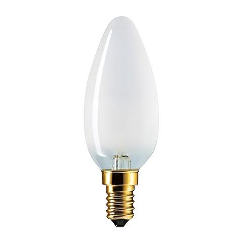 Лампа накаливания PHILIPS B35 FR E14, 60 Вт, свечеобразная, матовая, колба d = 35 мм, цоколь E14, 011763