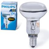 Лампа накаливания PHILIPS Spot R50 E14 30D, 40 Вт, зеркальная, колба d = 50 мм, цоколь E14, угол 30°, 054159