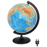 Глобус физический, диаметр 320 мм, с подсветкой, 10014
