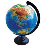 Глобус физический, диаметр 320 мм, рельефный (Россия), 10196