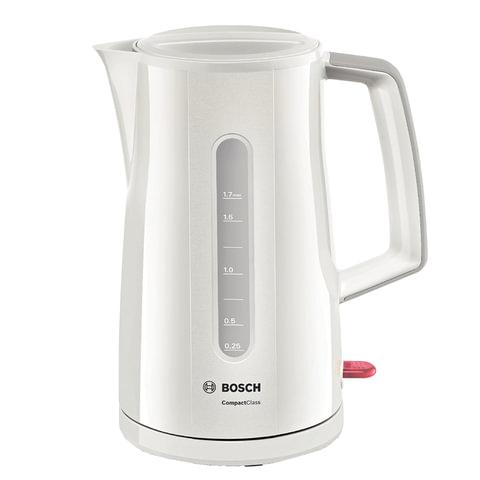 Чайник BOSCH TWK3A011, 1,7 л, 2400 Вт, закрытый нагревательный элемент, пластик, белый