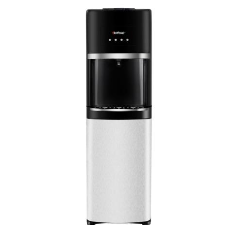 Кулер для воды HOT FROST 35AN, напольный, нагрев/охлаждение, 1 кран (3 кнопки), серебристый/черный, 120103501
