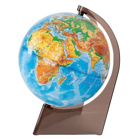 Глобус физический, диаметр 210 мм, рельефный, 10275