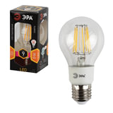 Лампа светодиодная ЭРА, 9 (80) Вт, цоколь E27, грушевидная, теплый белый свет, 30000 ч., F-LED А60-9w-827-E27