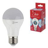 Лампа светодиодная ЭРА, 10 (70) Вт, цоколь E27, грушевидная, холодный белый свет, 25000 ч., LED smdA60-10w-840-E27ECO