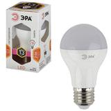 Лампа светодиодная ЭРА, 13 (110) Вт, цоколь E27, грушевидная, теплый белый, свет, 30000 ч., LED smdA65\A60-13W-827-E27, A65-13W-827-E27