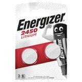 Батарейки ENERGIZER, CR 2450, литиевые, КОМПЛЕКТ 2 шт., в блистере, E300830702