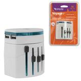 Зарядное устройство сетевое универсальное (100-240 В) DEFENDER Voyage Epc-21, 5 V/2,1 А, белое, 29701