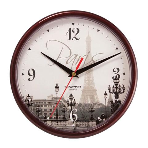 Часы настенные TROYKA 91931927, круг, с рисунком
