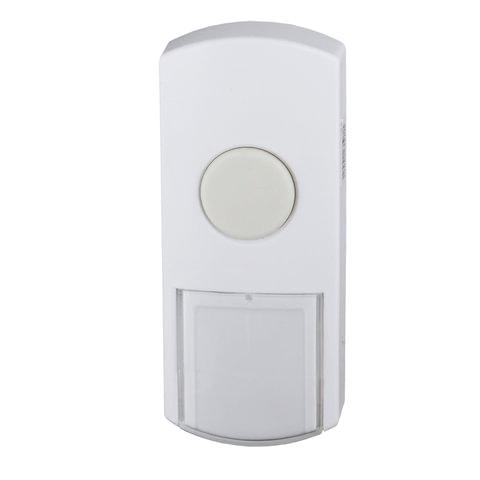 Кнопка для проводного звонка ЭРА D1, 220 В, IP44, белая