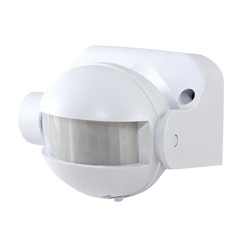 Датчик движения прожекторный ЭРА, настенный, регулируемый до 12 м, 1200 Вт, 220 В, 180°, IP44, белый, MD 03