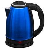 Чайник SONNEN KT-118B, 1,8 л, 1500 Вт, закрытый нагревательный элемент, нержавеющая сталь, синий, 452927