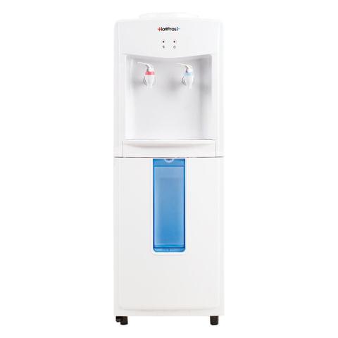 Кулер-водонагреватель БЕЗ ОХЛАЖДЕНИЯ, HOT FROST V118F, напольный, 2 крана, белый, 120311803