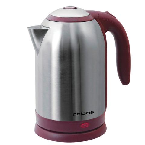 Чайник POLARIS PWK-1864CA, 1,8 л, 1800 Вт, закрытый нагревательный элемент, сталь, бордовый, PWK 1864CA