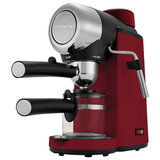Кофеварка рожковая POLARIS PCM 4007A, 800 Вт, объем 0,2 л, 4 бар, подсветка, съемный фильтр, красная
