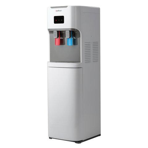 Кулер для воды HOT FROST V115АЕ, напольный, НАГРЕВ/ОХЛАЖДЕНИЕ ЭЛЕКТРОННОЕ, бутыль снизу, 2 крана, серый, 120211506