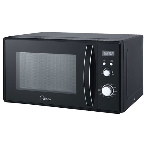 Микроволновая печь MIDEA AM823AM9-B объем 20 л, мощность 800 Вт, механическое управление, черная